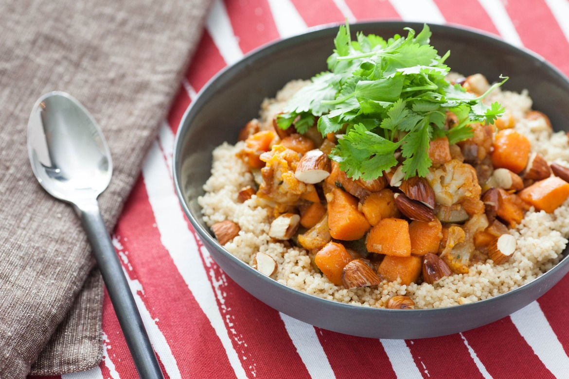 Moroccan Vegetable Stew with Whole Wheat Couscous