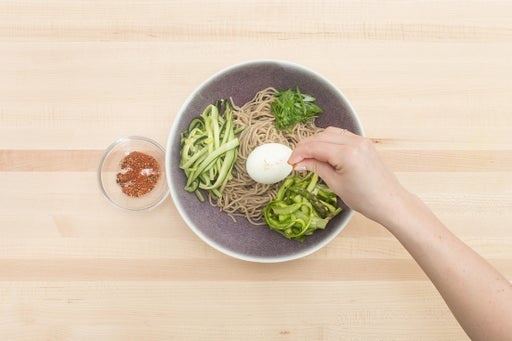 Dress the noodles & plate your dish: