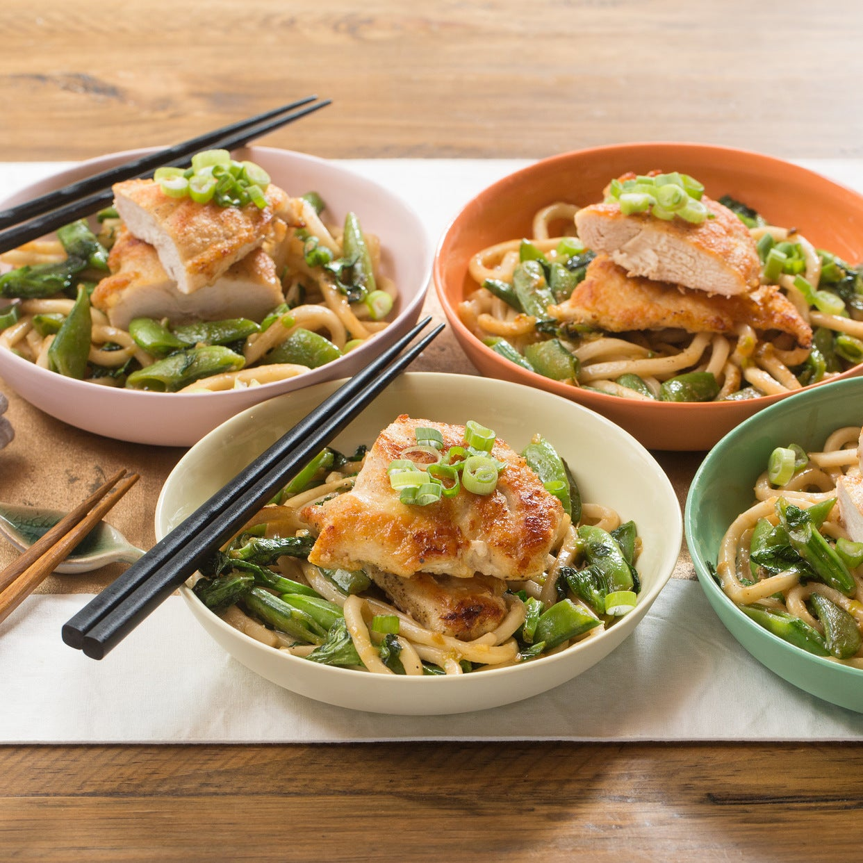 Recipes Chicken Udon Noodles: Recipe: Seared Chicken & Miso Udon Noodles With Sautéed