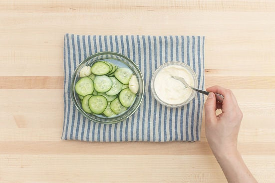 Make the pickles & aioli: