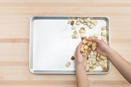 Start the potatoes: