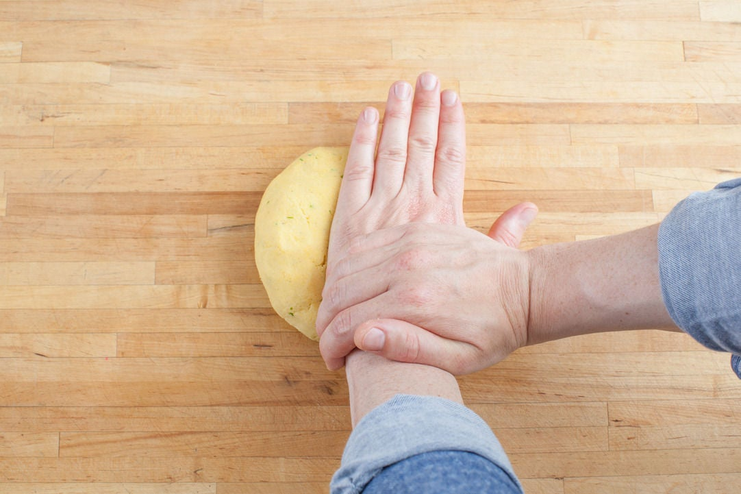 Make the dough & form the arepas: