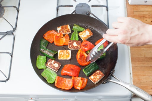 Cook the peppers & queso: