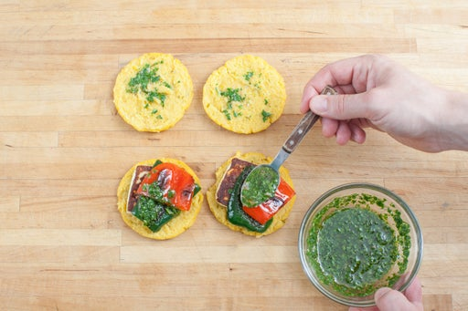 Make the chimichurri & plate your dish:
