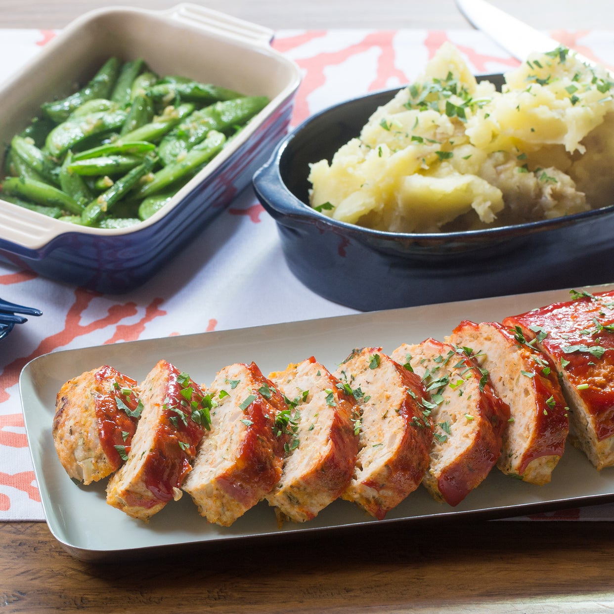 Recipe: Chicken Meatloaf with Mashed Potatoes & Garlic ...