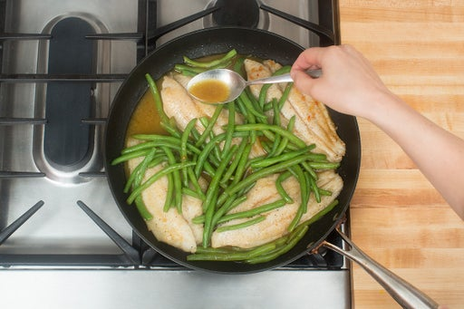Cook the catfish & finish the green beans: