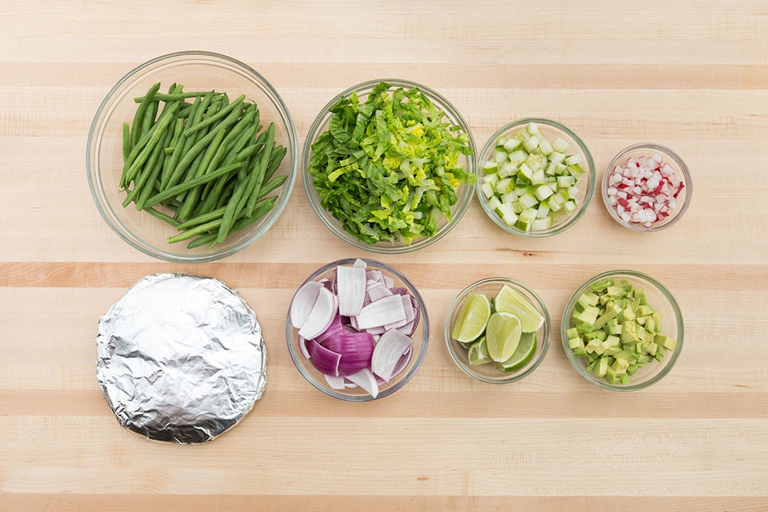 Recipe: Beef Tacos & Roasted Green Beans with Cucumber-Avocado Salsa ...