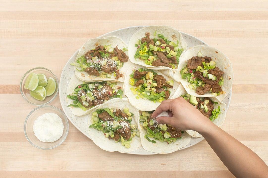 cucumber salsa and tsatsiki chipotle steak tacos skirt steak tacos ...