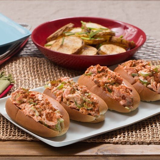 New England-Style Salmon Rolls with Roasted Potatoes & Chives