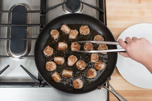 Form & cook the meatballs: