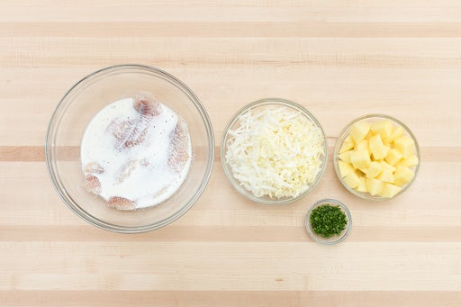 Prepare the ingredients & marinate the catfish: