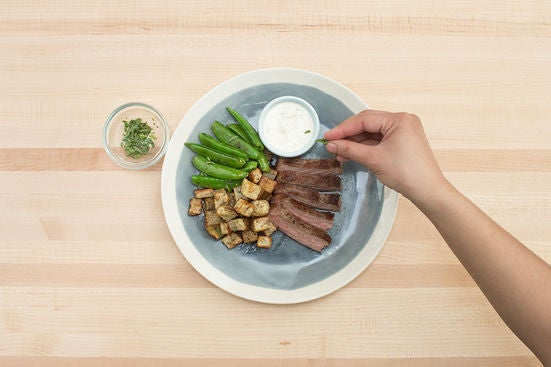 Plate your dish: