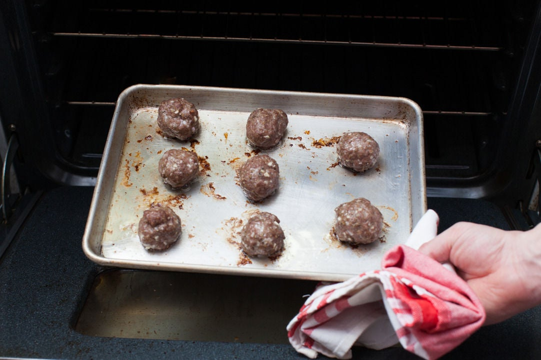 Bake the meatballs: