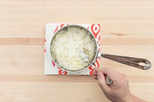 Make the ginger rice: