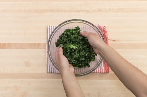 Make the kale slaw: