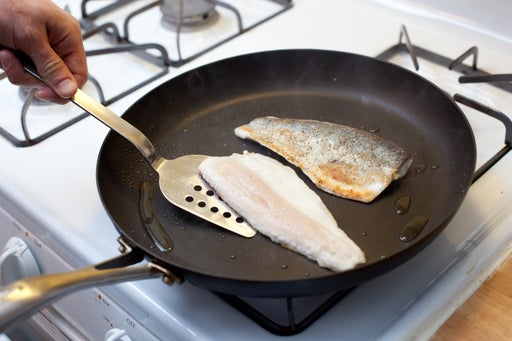 Cook the trout: