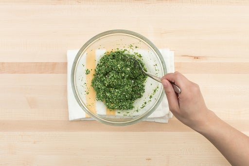 Make the pesto: