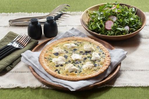 Red, White & Blue Quiche with Radish, Basil & Arugula Salad