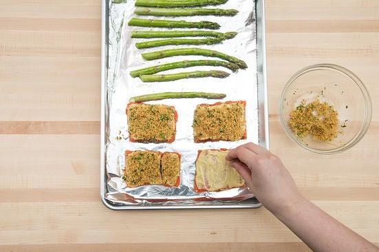 Roast the salmon & asparagus:
