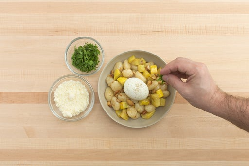 Finish the gnocchi & plate your dish: