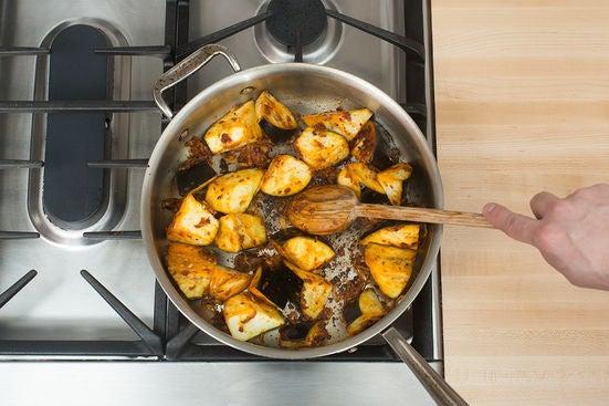 Add the eggplant: