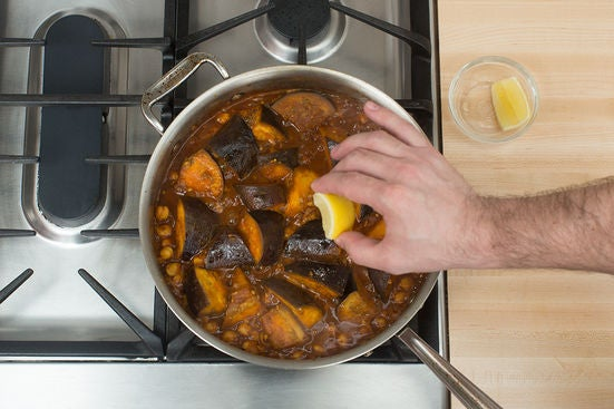 Finish the tagine: