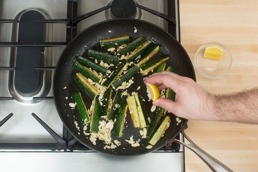 Cook the zucchinis: