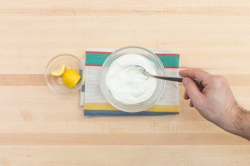Make the yogurt sauce & serve your dish: