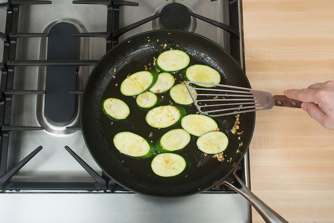 Cook the zucchini:
