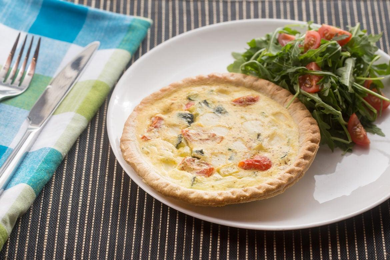 Blue apron zucchini salad - Zucchini Cherry Tomato Quiches With Tomato Arugula Salad