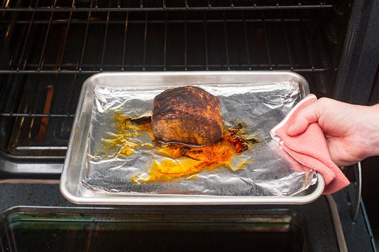 Sear & roast the pork:
