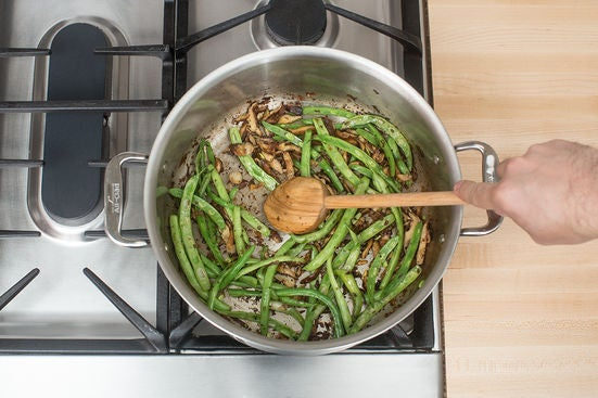Add the green beans: