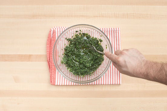 Make the pesto: