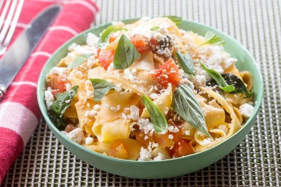 ... Pasta with Summer Tomato-Olive Ragù & Ricotta Salata - Blue Apron