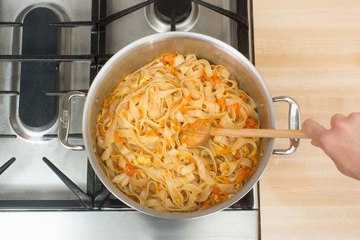 Finish the pad Thai & serve your dish: