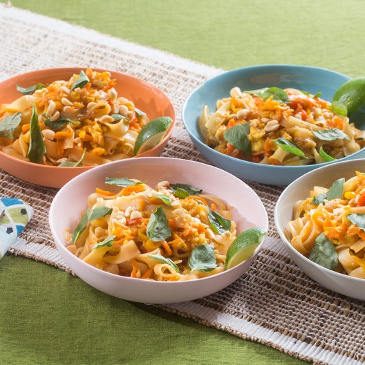 Vegetable Pad Thai with Tinkerbell Peppers, Peanuts & Thai Basil