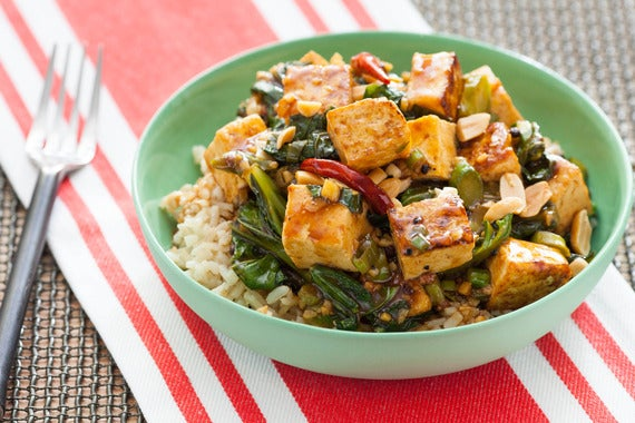 Recipe: Kung Pao Tofu with Chinese Broccoli & Brown Rice - Blue Apron