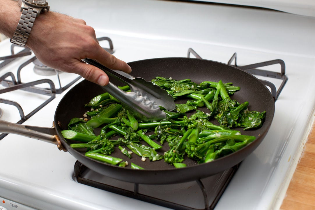 Cook the Chinese broccoli & enjoy: