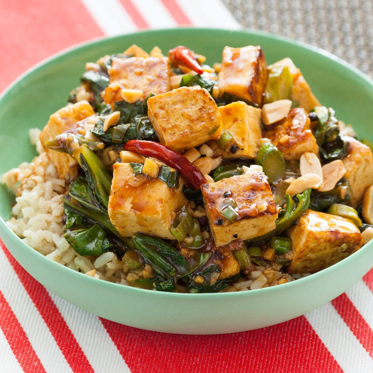 Recipe kung pao tofu with chinese broccoli brown rice blue apron kung pao tofu with chinese broccoli brown rice forumfinder Gallery