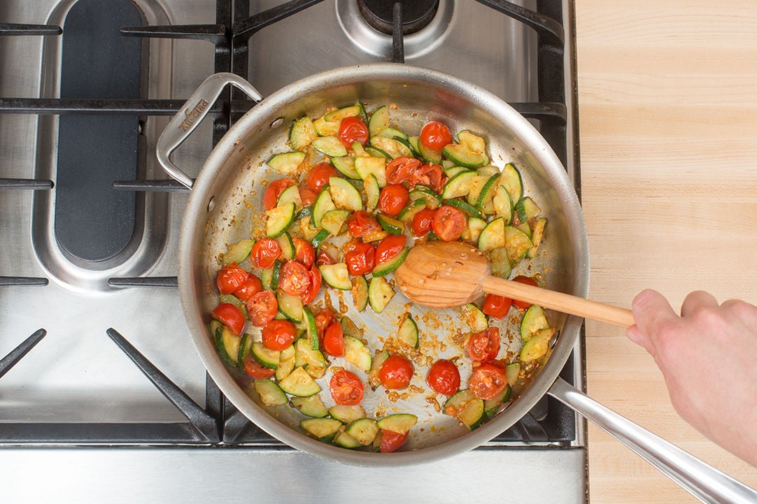 Add the tomatoes: