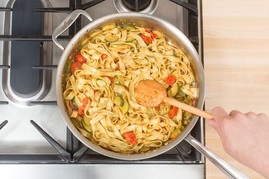 Finish the pasta: