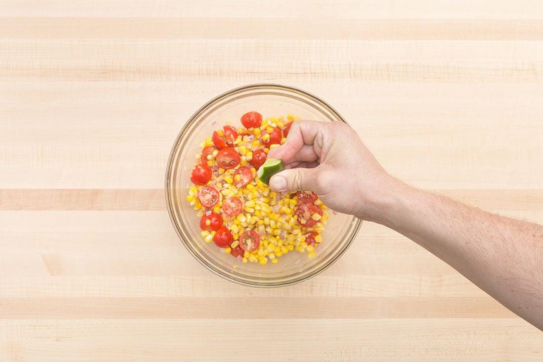 Cook the vegetables & make the salad: