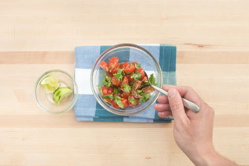 Make the salsa: