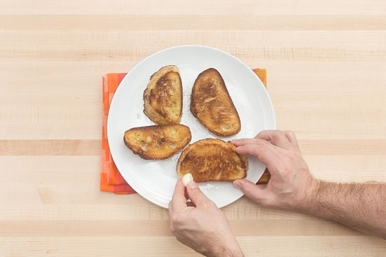 Make the croutons: