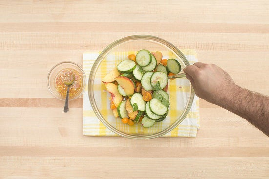 Marinate the fruit & vegetables: