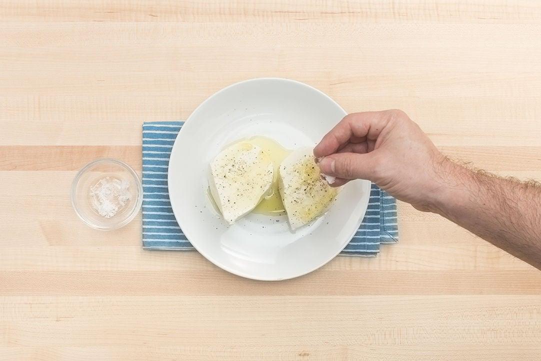 Season the cheese: