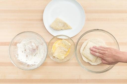 Bread the cod: