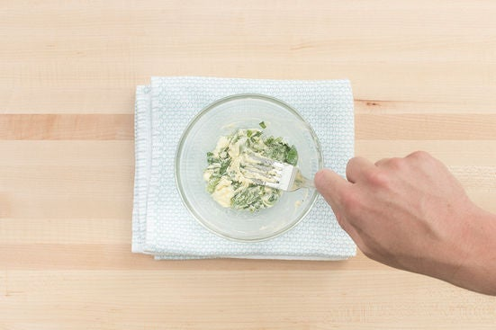 Make the basil butter & plate your dish: