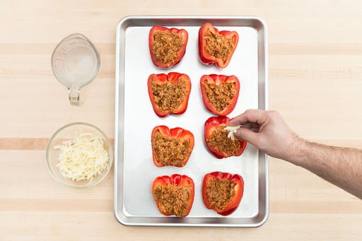 Stuff the peppers: