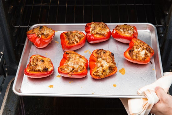 Roast the peppers & serve your dish: